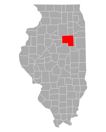 Map of Livingston in Illinois