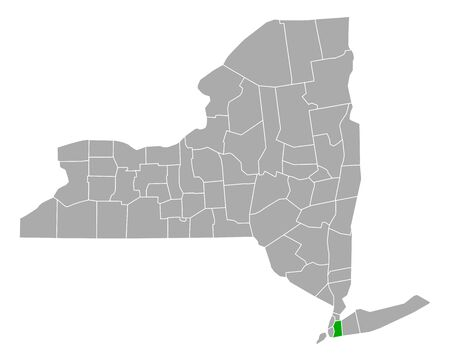 Map of Queens in New York Çizim