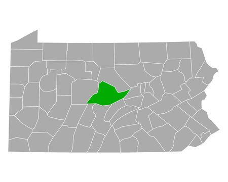Map of Centre in Pennsylvania
