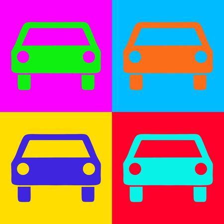 Car and pop-art