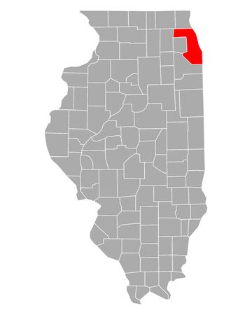 Map of Cook in Illinois