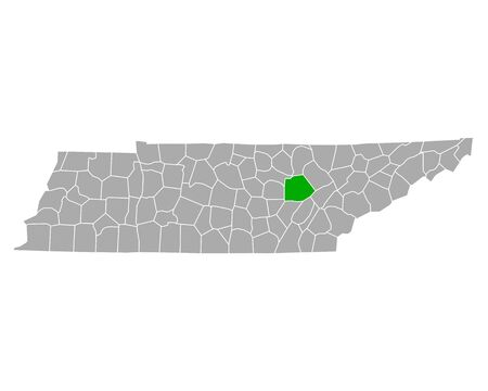 Map of Cumberland in Tennessee