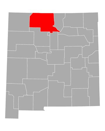 Map of Rio Arriba in New Mexico