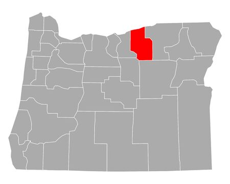 Map of Morrow in Oregon