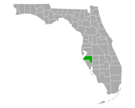 Map of Manatee in Florida