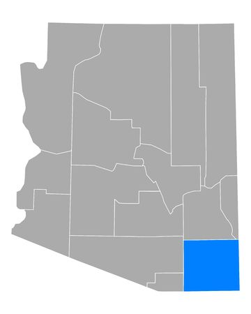 Map of Cochise in Arizona