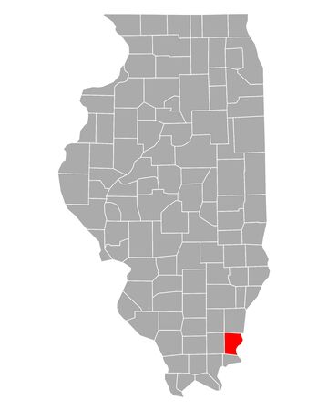 Map of Gallatin in Illinois