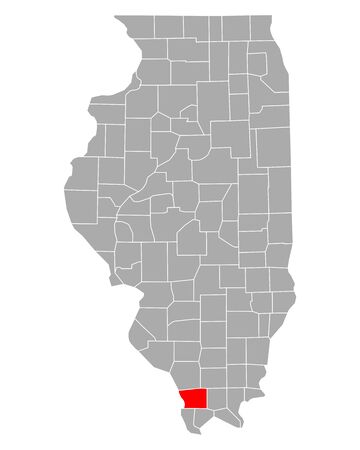 Map of Union in Illinois