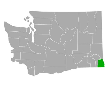 Map of Asotin in Washington Иллюстрация