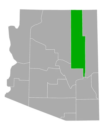 Map of Navajo in Arizona