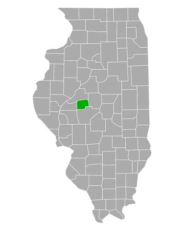 Map of Menard in Illinois