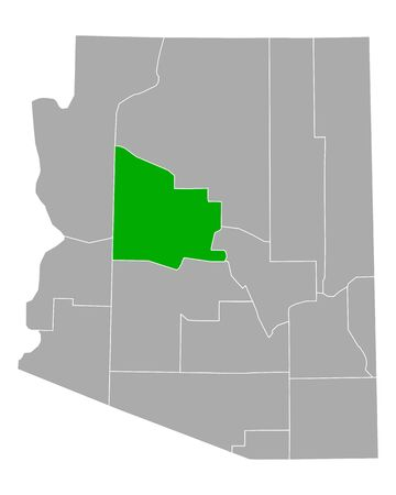 Map of Yavapai in Arizona