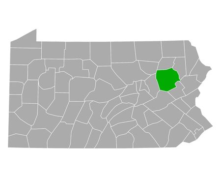 Map of Luzerne in Pennsylvania