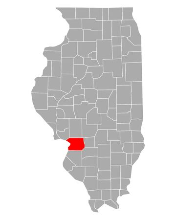 Map of Madison in Illinois Иллюстрация