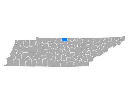 Map of Macon in Tennessee