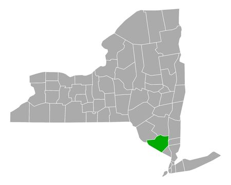 Map of Orange in New York