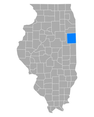 Map of Iroquois in Illinois