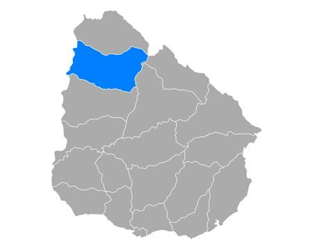 Map of Salto in Uruguay