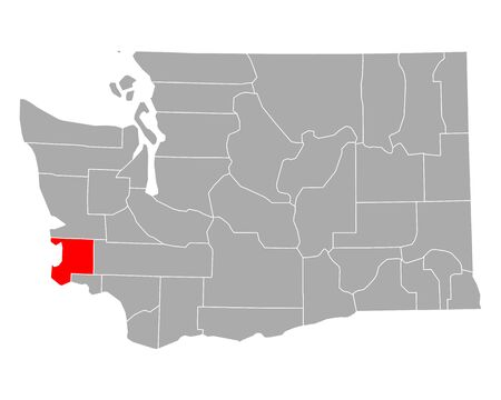 Map of Pacific in Washington