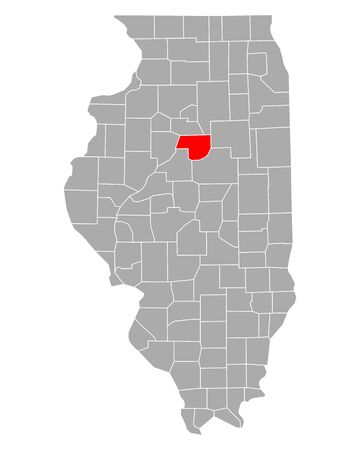 Map of Woodford in Illinois Иллюстрация