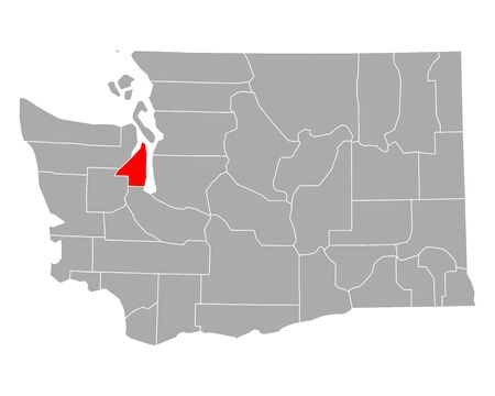 Map of Kitsap in Washington