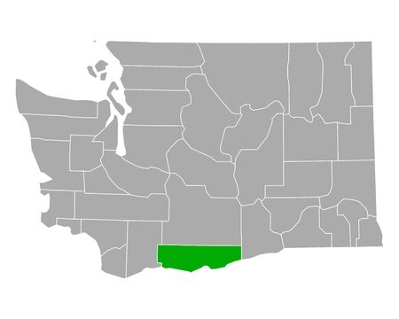 Map of Klickitat in Washington