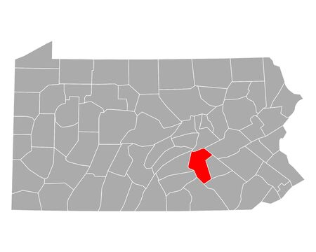 Map of Dauphin in Pennsylvania