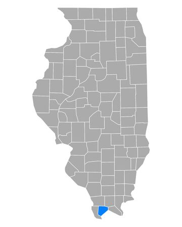 Map of Pulaski in Illinois
