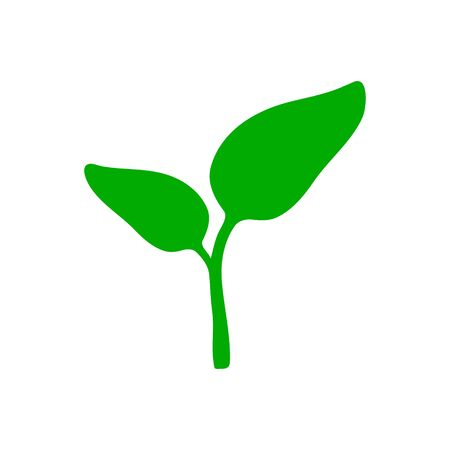 Plant and background Иллюстрация
