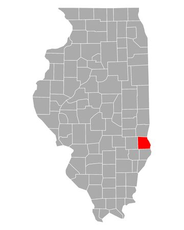 Map of Crawford in Illinois
