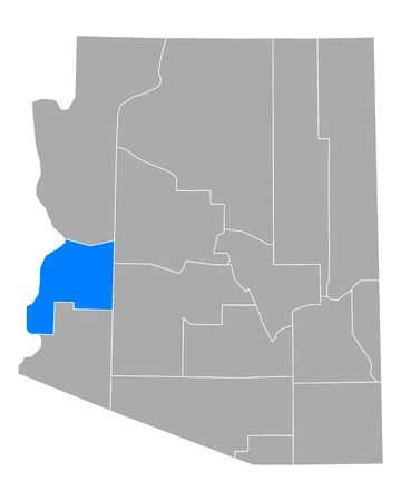 Map of La Paz in Arizona