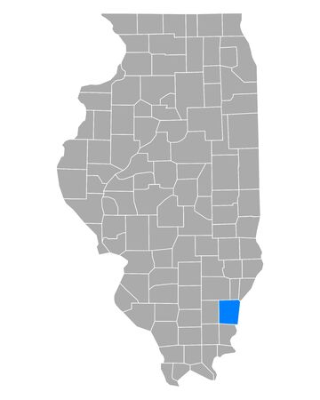 Map of White in Illinois