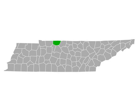 Map of Robertson in Tennessee