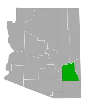 Map of Graham in Arizona