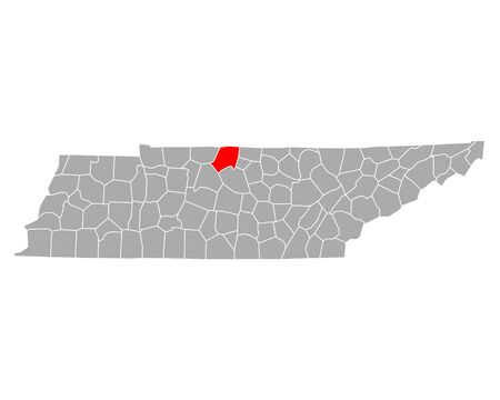 Map of Sumner in Tennessee