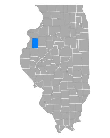 Map of Warren in Illinois