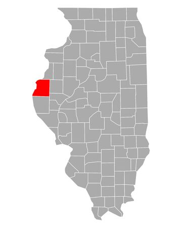 Map of Hancock in Illinois