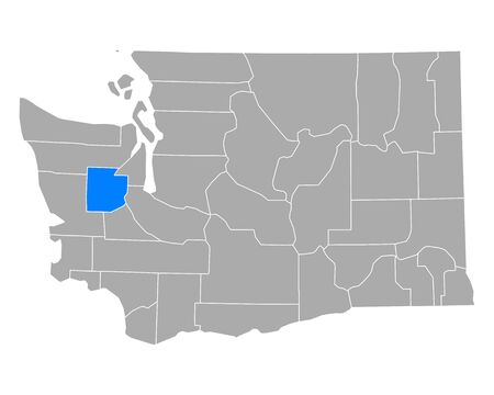 Map of Mason in Washington