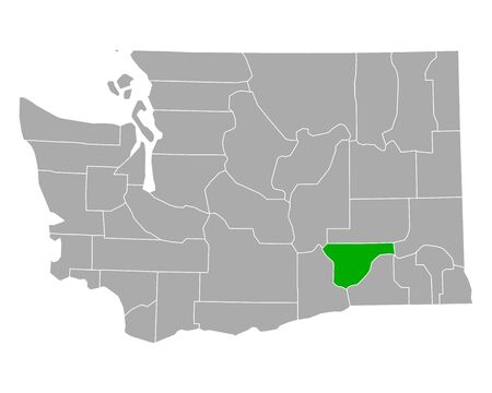 Map of Franklin in Washington