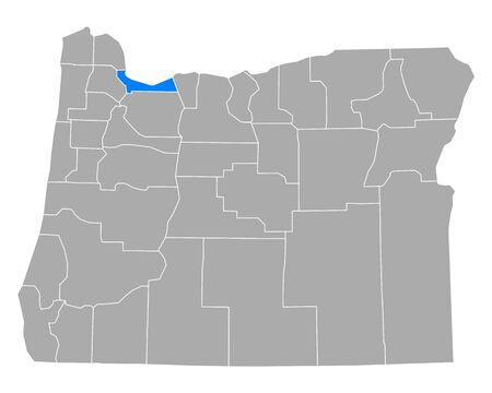 Map of Multnomah in Oregon