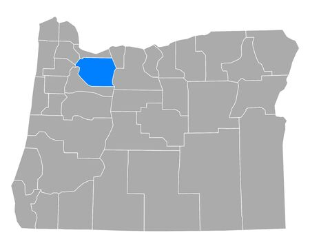 Map of Clackamas in Oregon