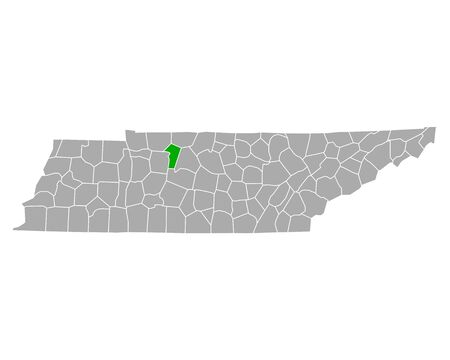 Map of Cheatham in Tennessee