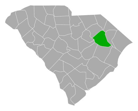Map of Florence in South Carolina