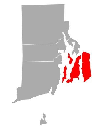 Map of Newport in Rhode Island