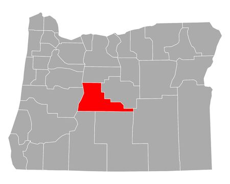 Map of Deschutes in Oregon