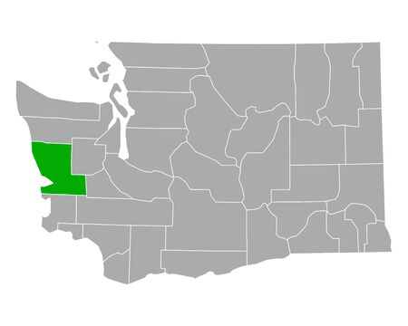 Map of Grays Harbor in Washington