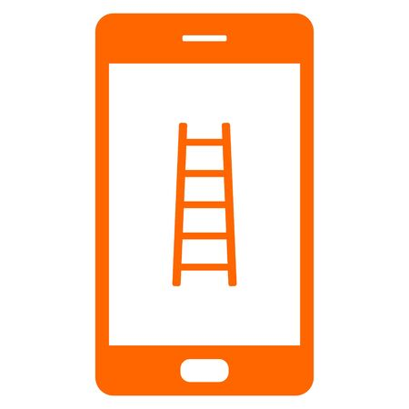 Ladder and smartphone
