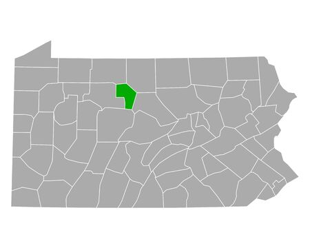 Map of Cameron in Pennsylvania