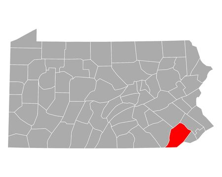 Map of Chester in Pennsylvania