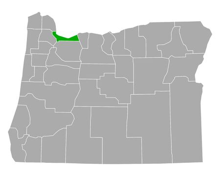 Map of Multnomah in Oregon